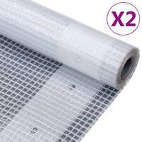 vidaXL Gitter-Abdeckplanen 2 Stk. 260 g/m² 2x20 m Weiß
