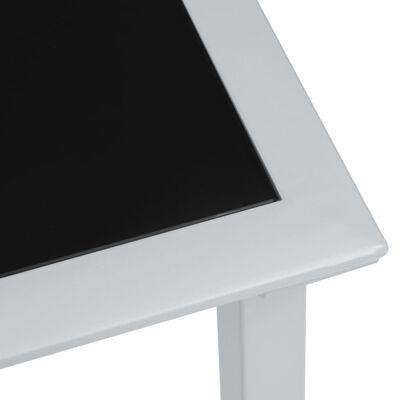 vidaXL Sonnenliegen 2 Stk. mit Tisch Aluminium Taupe