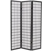 vidaXL 3tlg. Raumteiler Japanischer Stil Klappbar 120 x 170 cm Schwarz