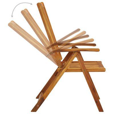 vidaXL Klappbare Gartenstühle 3 Stk. mit Auflagen Massivholz Akazie