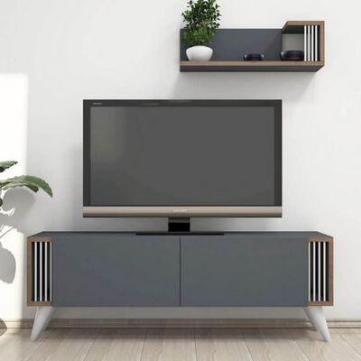 Homemania TV-Schrank Nicol 120x31x42 cm Anthrazit