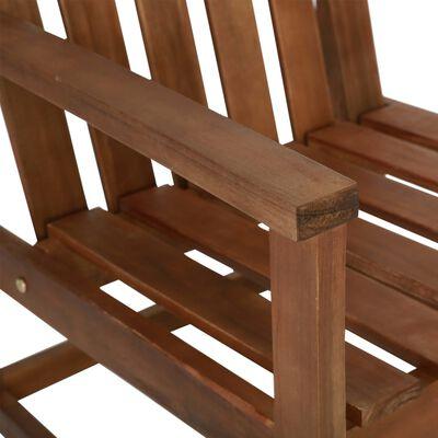vidaXL Garten-Armlehnstühle 2 Stk. Massivholz Akazie