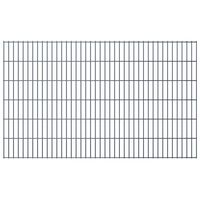 vidaXL 2D Gartenzaun-Elemente 2,008x1,23 m Gesamtlänge 12 m Grau