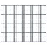 vidaXL 2D Gartenzaun-Elemente 2,008x1,63 m Gesamtlänge 4 m Grau
