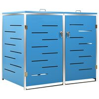 vidaXL Mülltonnenbox für 2 Tonnen 138x77,5x115,5 cm Edelstahl