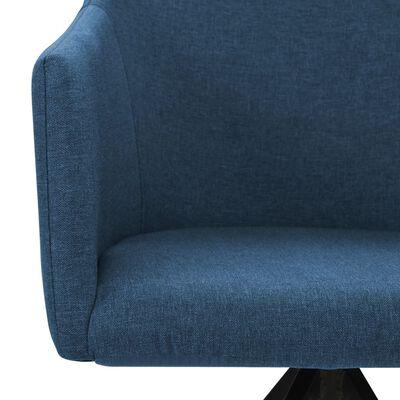 vidaXL Drehbare Esszimmerstühle 6 Stk. Blau Stoff