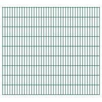 vidaXL 2D Gartenzaun-Elemente 2,008x1,83 m Gesamtlänge 22 m Grün