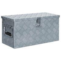 vidaXL Aluminiumkiste 61,5 x 26,5 x 30 cm Silbern