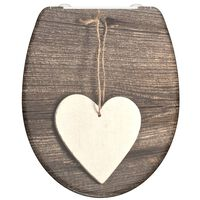 SCHÜTTE Toilettensitz mit Absenkautomatik WOOD HEART Duroplast Bedruckt