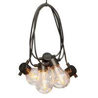 KONSTSMIDE Party-Lichterkette mit 10 Austauschbaren Lampen Extra-Warm