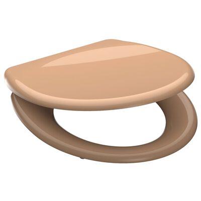 SCHÜTTE Toilettensitz mit Absenkautomatik BEIGE Duroplast