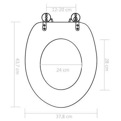 vidaXL Toilettensitze 2 Stk. mit Soft-Close-Deckel MDF Bambus-Design