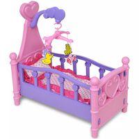 Puppenbett Kinderspielzeug Rosa + Lila