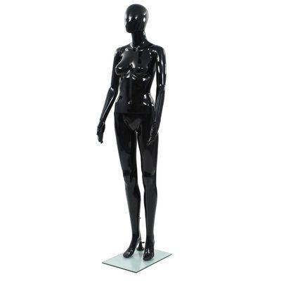 vidaXL Weibliche Schaufensterpuppe mit Glassockel Schwarz 175 cm