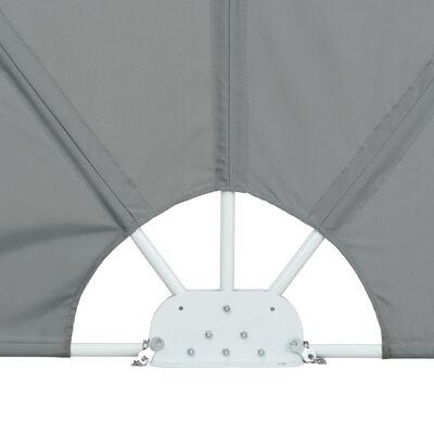 vidaXL Faltbarer Terrassen-Seitenfächer Grau 300×200 cm