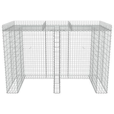 vidaXL Gabionenwand für Mülltonne Verzinkter Stahl 190x100x130 cm