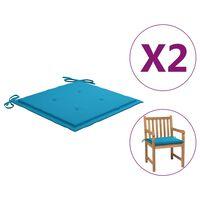 vidaXL Gartenstuhl-Kissen 2 Stk. Blau 50x50x4 cm