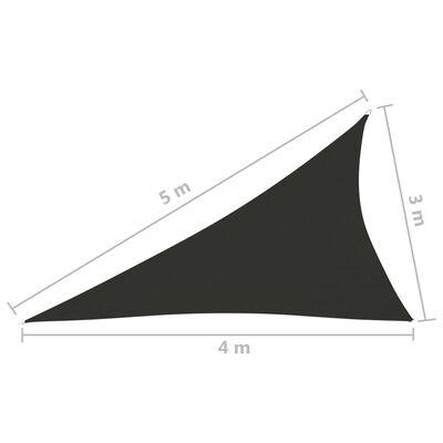 vidaXL Sonnensegel Oxford-Gewebe Dreieckig 3x4x5 m Anthrazit