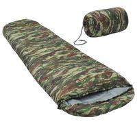 vidaXL Leichter Schlafsack Camouflage 15℃ 850g