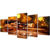 Bilder Dekoration Set Whiskey und Zigarre 200 x 100 cm