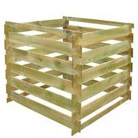 vidaXL Kompostbehälter aus Latten 0,54 m³ Quadratisch Holz