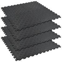 vidaXL Pferdestall-Puzzlematten 4 Stk. Gummi 60x60 cm 12mm Riffel