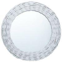 vidaXL Spiegel Weiß 40 cm Weide