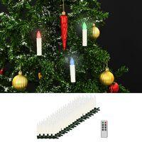 vidaXL Kabellose LED-Weihnachtskerzen mit Fernbedienung 100 Stk. RGB