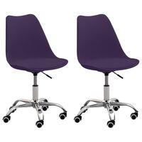 vidaXL Bürostühle 2 Stk. Lila Kunstleder