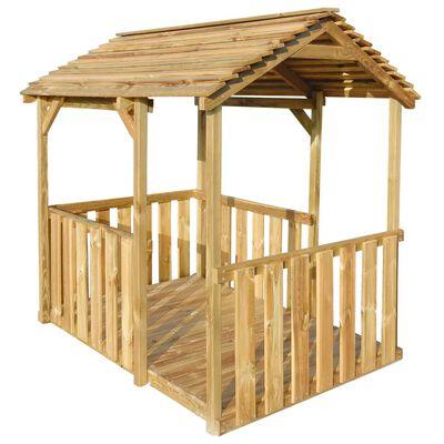 vidaXL Outdoor Pavillon Spielhaus 122,5×160×163 cm Kiefernholz