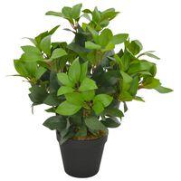 vidaXL Künstliche Pflanze Lorbeerbaum mit Topf Grün 40 cm