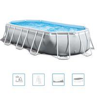 Intex Prism Frame Swimmingpool-Set Oval 503x274x122 cm 26796GN