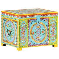 vidaXL Aufbewahrungsbox Handbemalt 50x40x40 cm Mango Massivholz