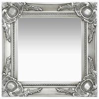 vidaXL Wandspiegel im Barock-Stil 40x40 cm Silbern