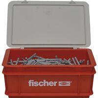 Fischer Nagelschrauben-Set mit Dübeln N8x80 200 Stk.
