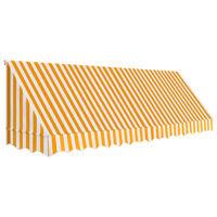 vidaXL Bistro-Markise Orange und Weiß 400 x 120 cm
