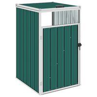 vidaXL Mülltonnenbox Grün 72×81×121 cm Stahl