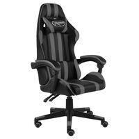 vidaXL Gaming-Stuhl Schwarz und Grau Kunstleder
