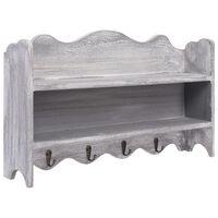 vidaXL Wandgarderobe Grau 50 x 10 x 30 cm Holz