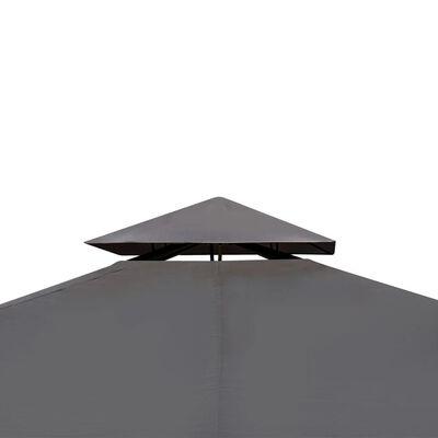 vidaXL Gartenpavillon mit Dach 3 x 4 m Dunkelgrau