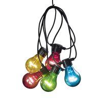 KONSTSMIDE Party-Lichterkette mit 5 Transparenten Lampen Mehrfarbig