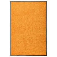 vidaXL Fußmatte Waschbar Orange 60x90 cm
