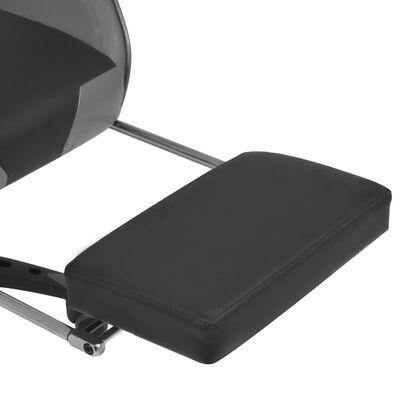 vidaXL Bürostuhl Gaming-Stuhl Neigbar mit Fußstütze Grau