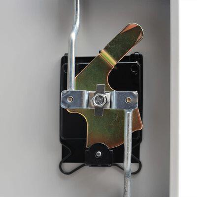vidaXL Büroschrank mit 2 Türen Stahl 90x40x180 cm Grau