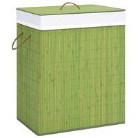 vidaXL Bambus-Wäschekorb Grün 83 L