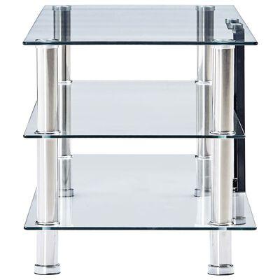 vidaXL TV-Tisch Transparent 150 x 40 x 40 cm Gehärtetes Glas
