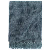 vidaXL Überwurf Baumwolle 125x150 cm Indigoblau