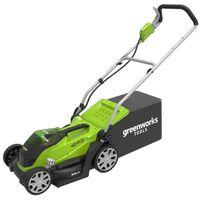 Greenworks Rasenmäher mit 2 x 40 V 2 Ah-Batterie G40LM35 2501907UC