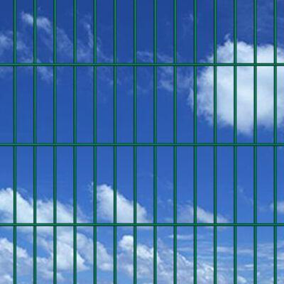 vidaXL Doppelstabmattenzaun Gartenzaun & Pfosten 2008x2230 mm 12m Grün