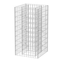 vidaXL Gabionen-Hochbeet Stahl 50×50×100 cm